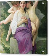 The Hearts Awakening Acrylic Print by William Adolphe Bouguereau