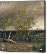 The Heath In A Storm Acrylic Print by Valentin Ruths