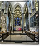 The High Altar In Salisbury Cathedral Acrylic Print