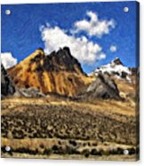 The High Andes Painted Version Acrylic Print