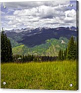 The Hills Are Alive In Vail Acrylic Print