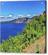 The Hills Of Crater Lake Oregon Acrylic Print