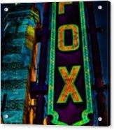 The Historic Fox Theatre Acrylic Print by Kelly Rader