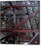 The Historic Kinsol Trestle  Inside View Acrylic Print