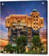 The Hollywood Tower Hotel Disneyland Acrylic Print