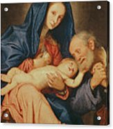 The Holy Family With A Basket  Acrylic Print
