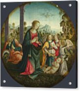 The Holy Family With Angels Acrylic Print
