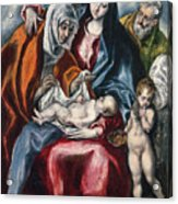 The Holy Family With Saint Anne And The Infant John The Baptist Acrylic Print
