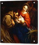 The Holy Family With Saint Francis Acrylic Print