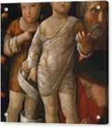 The Holy Family With St John Acrylic Print