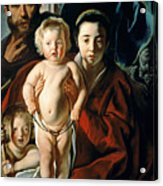 The Holy Family With St. John The Baptist Acrylic Print