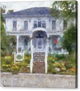 The Homes Of Mackinac Island Michigan 04 Pa Acrylic Print