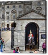 The Horse Guard At Whitehall Acrylic Print