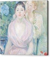 The Hortensia Acrylic Print by Berthe Morisot