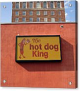 The Hot Dog King Acrylic Print