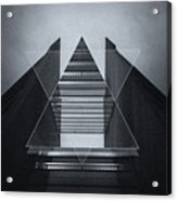 The Hotel Experimental Futuristic Architecture Photo Art In Modern Black And White Acrylic Print