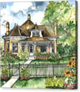 The House On Spring Lane Acrylic Print