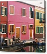 The Houses Of Burano Island-1 Acrylic Print