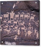 The Hunt Scene- Ancient Pueblo-anasazi Acrylic Print by Ira Block