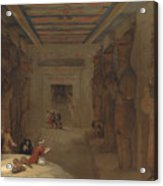 The Hypostyle Hall Of The Great Temple At Abu Simbel Egypt Acrylic Print