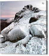 The Ice Queen Returns, North Tor Slieve Bearnagh Acrylic Print