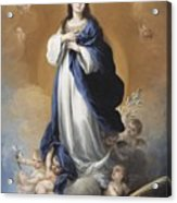 The Immaculate Conception  Acrylic Print by Bartolome Esteban Murillo