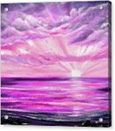 The Incredible Journey - Purple Sunset Acrylic Print