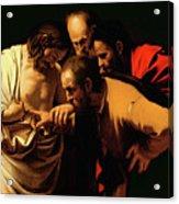 The Incredulity Of Saint Thomas Acrylic Print