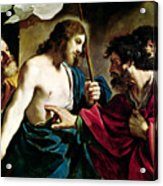 The Incredulity Of Saint Thomas Acrylic Print