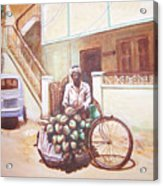 The Indian Tendor-coconut Vendor Acrylic Print