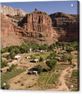 The Indian Village Of Supai Sits Acrylic Print