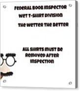 The Inspector  Acrylic Print