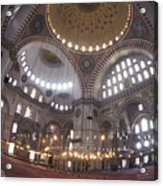 The Interior Of The Suleymaniye Mosque Acrylic Print