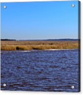 The Intracoastal Waterway In The Georgia Low Country In Winter Acrylic Print