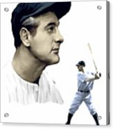 The Iron Horse  Lou Gehrig Acrylic Print by Iconic Images Art Gallery David Pucciarelli