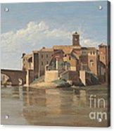 The Island And Bridge Of San Bartolomeo - Rome Acrylic Print