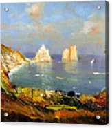 The Island Of Capri And The Faraglioni Acrylic Print