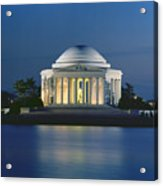 The Jefferson Memorial Acrylic Print by Peter Newark American Pictures