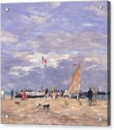 The Jetty At Deauville Acrylic Print