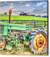 The John Deere Tractor Acrylic Print