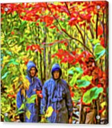 The Joys Of Autumn Camping - Paint Acrylic Print