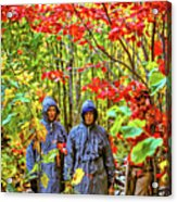 The Joys Of Autumn Camping Acrylic Print