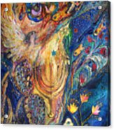 The Keeper Of Menorah Acrylic Print by Elena Kotliarker