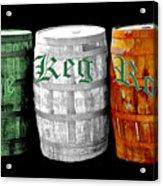 The Keg Room Irish Flag Colors Old English Hunter Green Acrylic Print