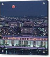 The Kennedy Center Lit Up At Night Acrylic Print by Kenneth Garrett
