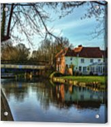 The Kennet And Avon Canal At Sulhamstead Acrylic Print