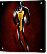 The Key Of Melencolia   With Red Tones Acrylic Print