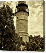 The Key West Lighthouse In Sepia Acrylic Print
