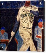 The Kid Feat Ken Griffey Jr Acrylic Print by D Rogale