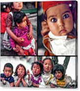 The Kids Of India Collage Acrylic Print